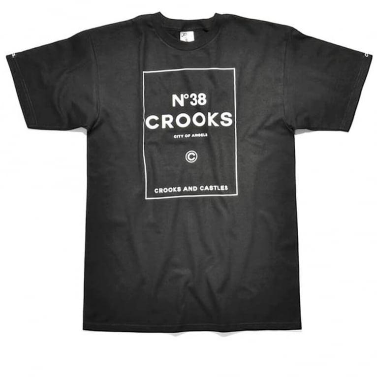 Crooks & Castles No. 38 Crooks T-shirt - Black
