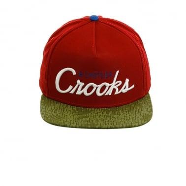 Team Crook Snapback - Red/camo