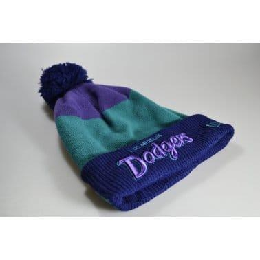 Cuff L.a. Dodgers Beanie Purple/Teal