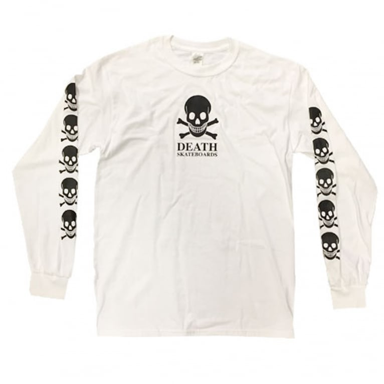 Death OG Skull Long Sleeve T-Shirt - White