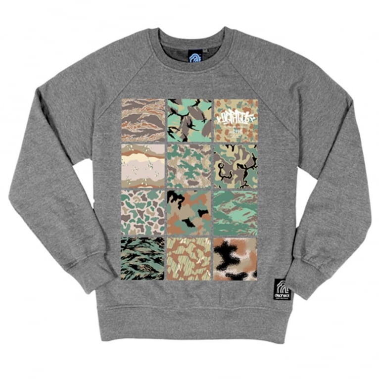 Dephect Camo Crewneck Sweatshirt - Heather