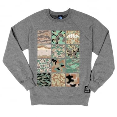 Camo Crewneck Sweatshirt - Heather