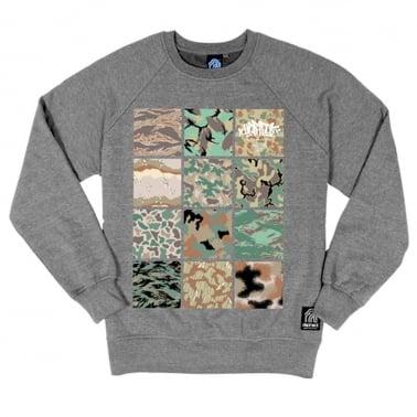 Camo Crewneck Sweatshirt - Heather