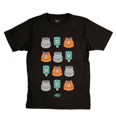 Caps T-Shirt - Black
