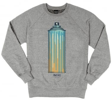 Full Colour Crewneck Sweatshirt - Heather Grey