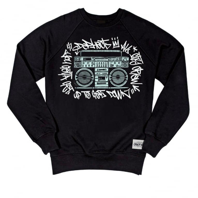 Dephect Get Down Crewneck Sweatshirt - Black