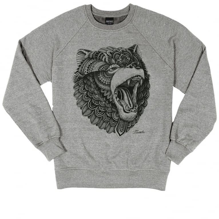 Dephect Grizzly Crewneck Sweatshirt - Heather Grey