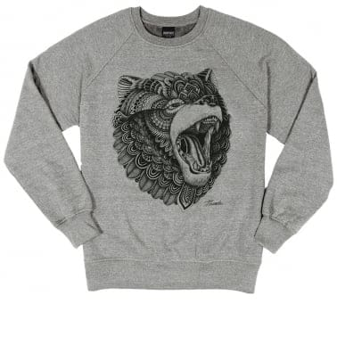Grizzly Crewneck Sweatshirt - Heather Grey