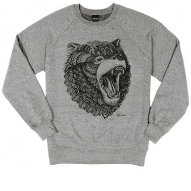 Grizzly Crewneck Sweatshirt - Heather Grey