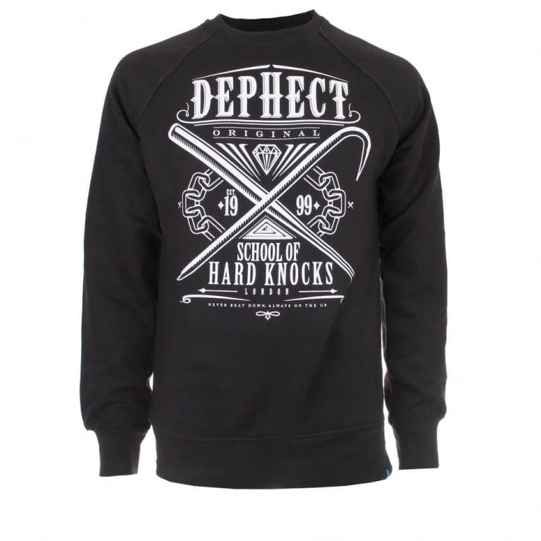Dephect Hard Knock Crewneck Sweatshirt - Black