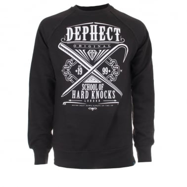Hard Knock Crewneck Sweatshirt - Black