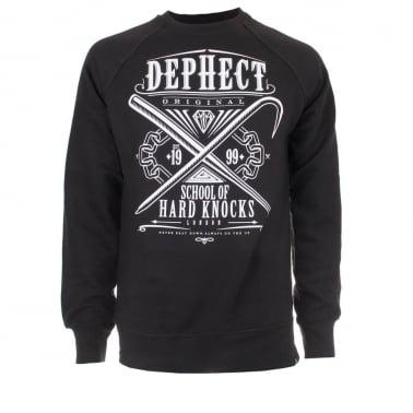 Hard Knock Crewneck Sweatshirt - Black