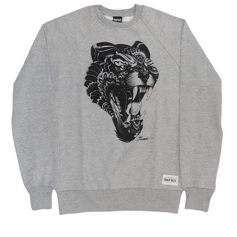 Dephect Panther Crewneck Sweatshirt - Heather Grey