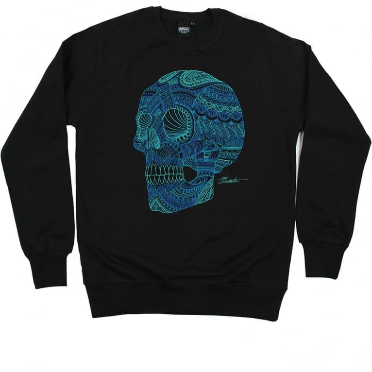 Dephect Skullour Crewneck Sweatshirt - Black