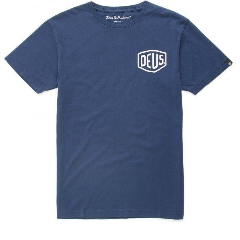 Deus Ex Machina Milano Address T-shirt - Navy