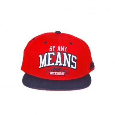 Any Means Snapback - Red/navy