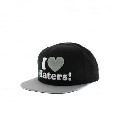 Haters Snapback - Black/Grey
