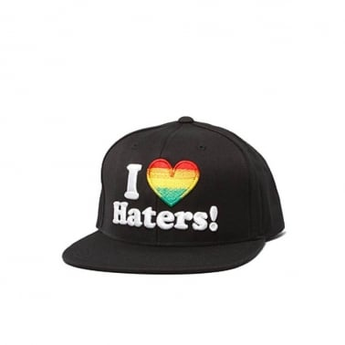 Haters Snapback - Black/rasta
