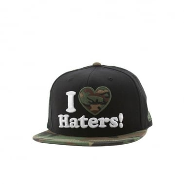 Haters Snapback - Black/woodland