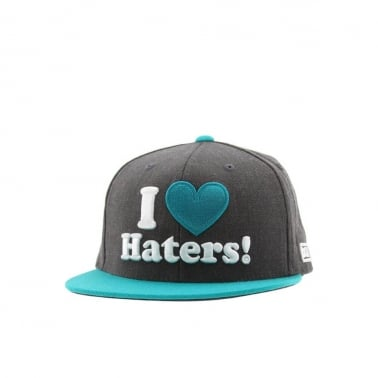 Haters Snapback - Charcoal Heather