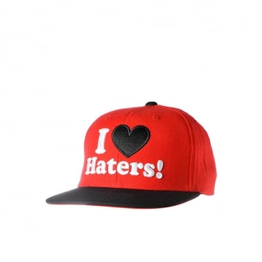 Haters Snapback - Red/Black