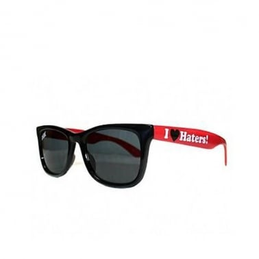 I Love Haters Shades - Black/Red