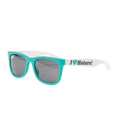 I Love Haters Shades - Teal/White