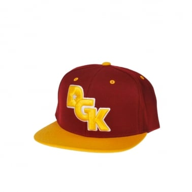 Stagger Snapback - Burgundy/Yellow