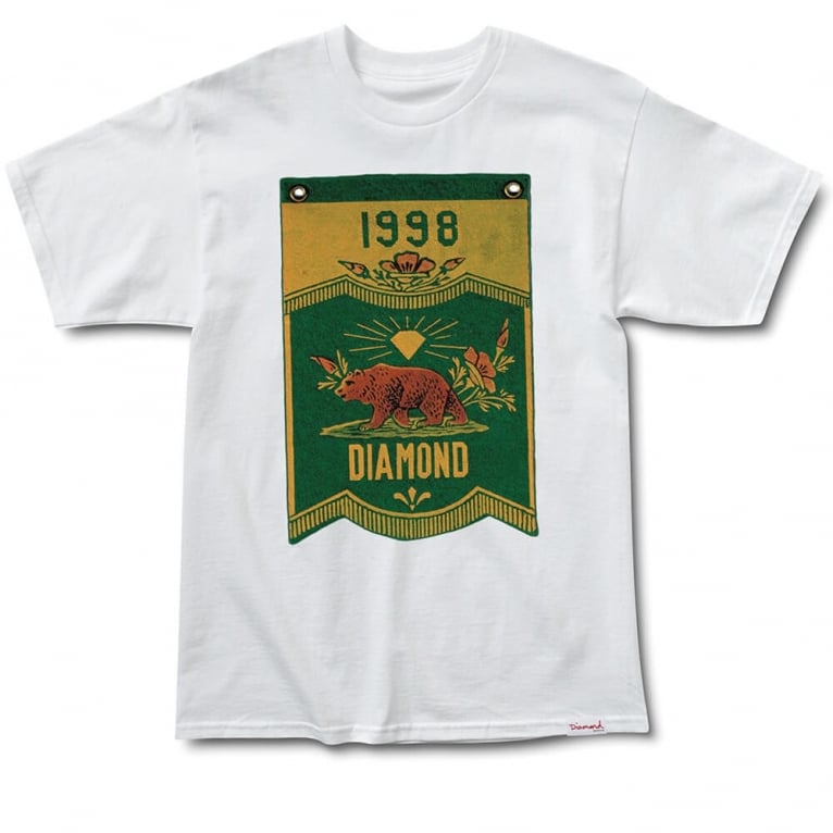 Diamond Supply Co. Banner X Grizzly T-shirt - White