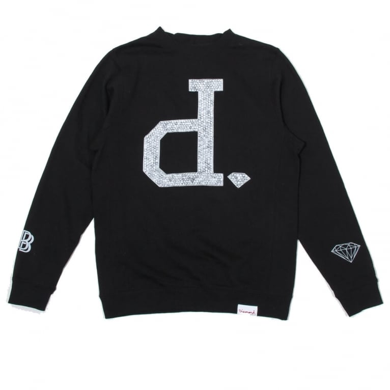 Diamond Supply Co. Ben Baller Un-Polo Crewneck Sweatshirt - Black