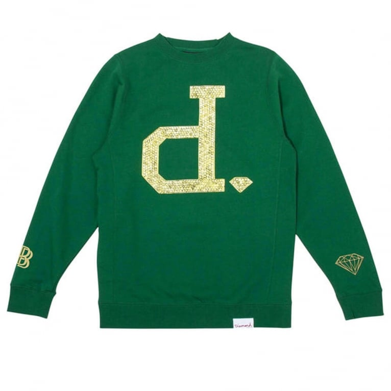 Diamond Supply Co. Ben Baller Unpolo Crewneck Sweatshirt - Green