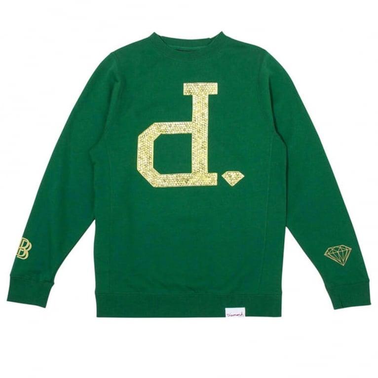 Diamond Supply Co. Ben Baller Unpolo Crewneck Sweatshirt - Green