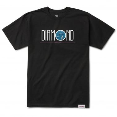 Deco Yacht Club T-Shirt - Black