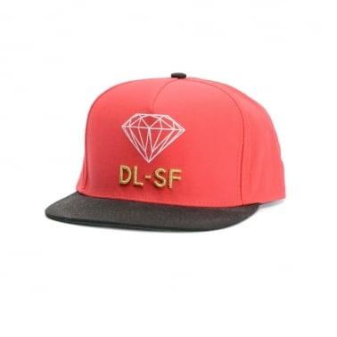 Diamond DL-SF Snapback - Red/Black