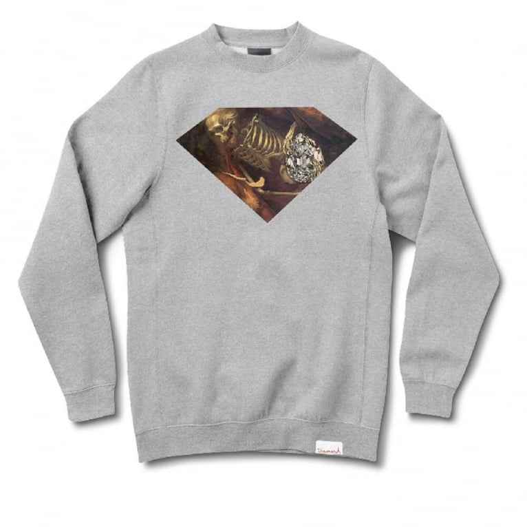 Diamond Supply Co. Diggers Crewneck Sweatshirt - Heather Grey