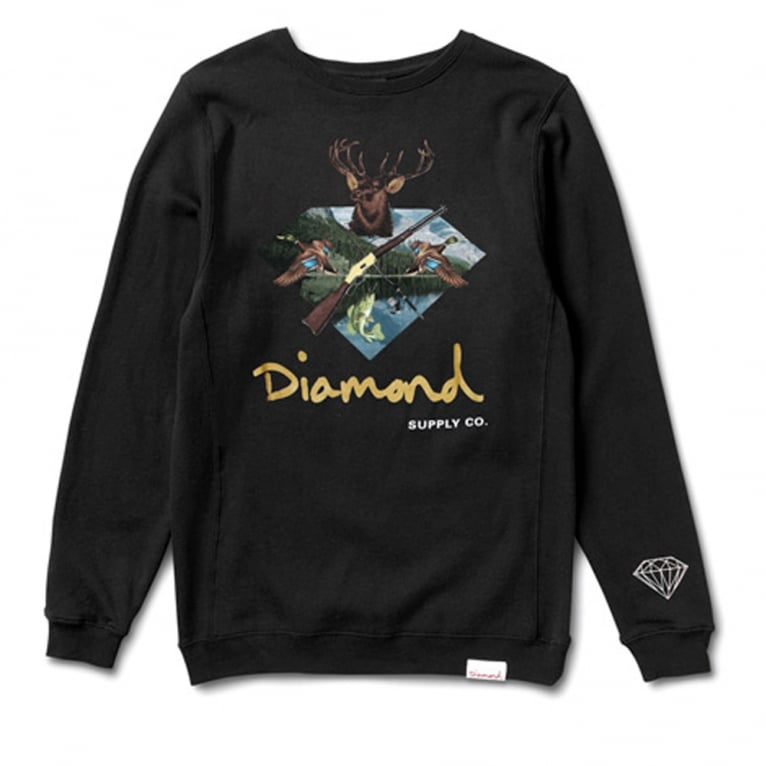Diamond Supply Co. Hunter Club Crewneck Sweatshirt - Black