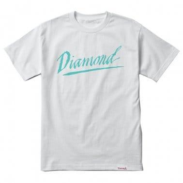 Jagged Script T-shirt - White