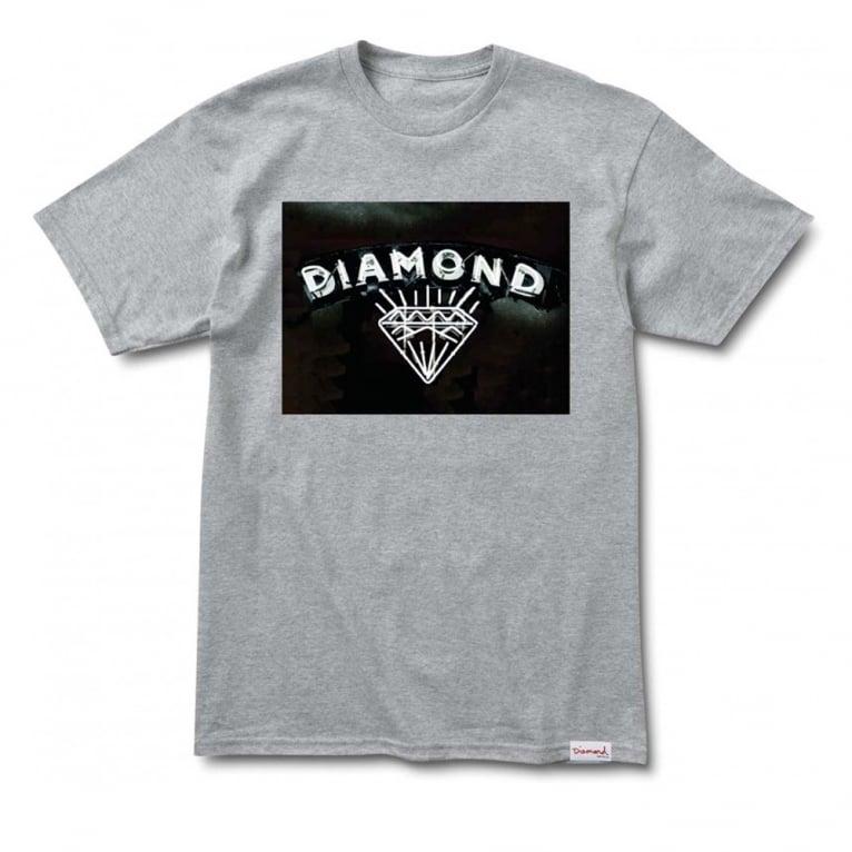 Diamond Supply Co. Jewellers Row T-shirt - Grey Heather