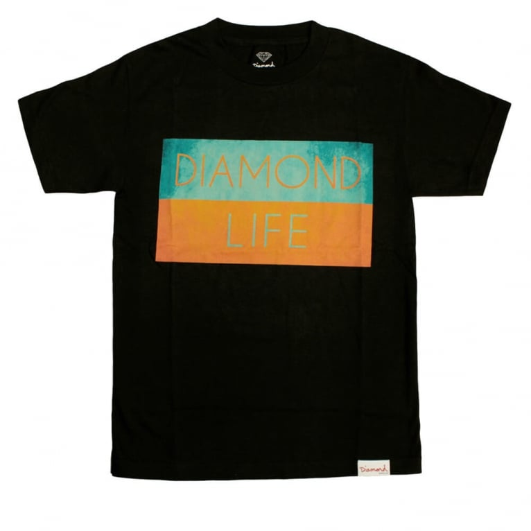 Diamond Supply Co. Life Flag T-shirt - Black