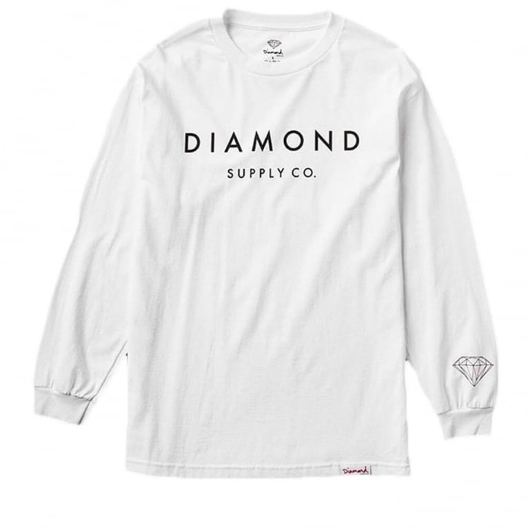 Diamond Supply Co. Long Sleeve Stone Cut T-shirt