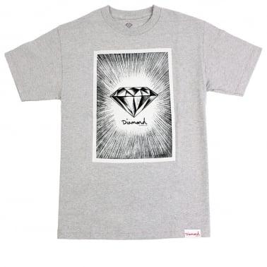 News Print T-shirt - Heather Grey