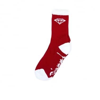 Og High Socks - Red/White