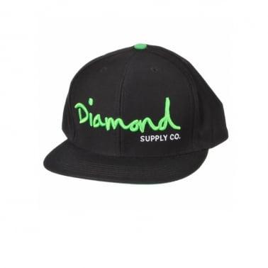 Og Logo Snapback - Black/neon