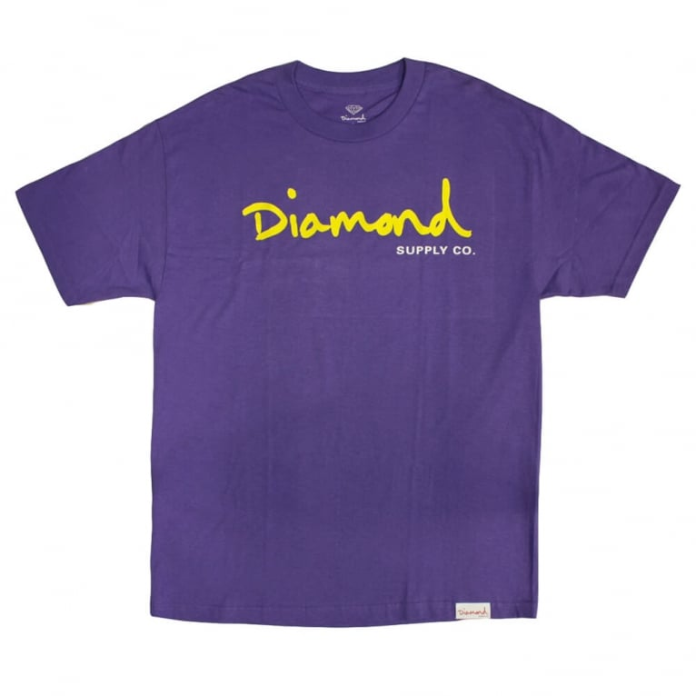 Diamond Supply Co. OG Script T-shirt - Purple
