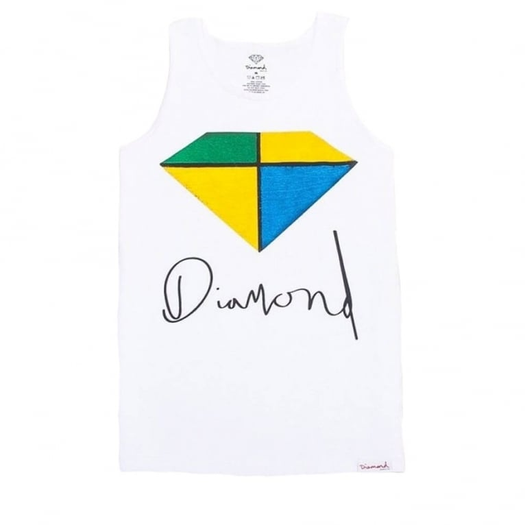 Diamond Supply Co. Painted Tank Top - White