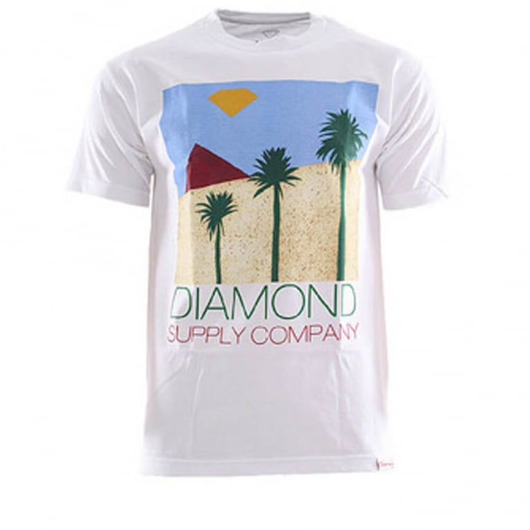 Diamond Supply Co. Palms T-shirt - White