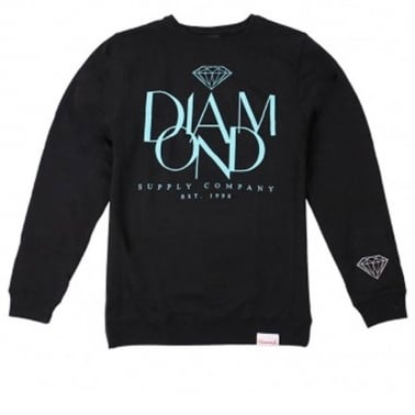 Parisian Crewneck Sweatshirt - Black