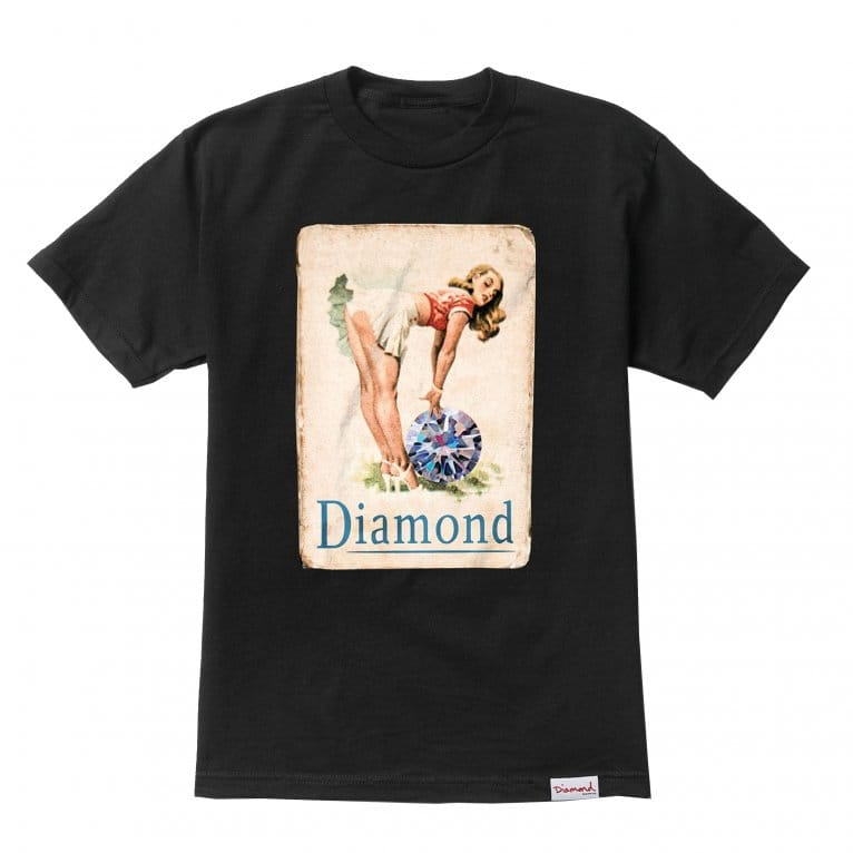Diamond Supply Co. Pin Up Girl T-shirt - Black
