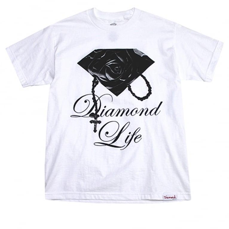 Diamond Supply Co. Rose Brilliant T-shirt - White