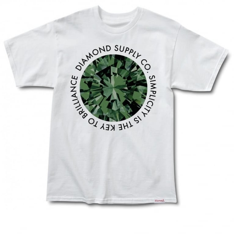 Diamond Supply Co. Simplicity T-shirt - White/Green